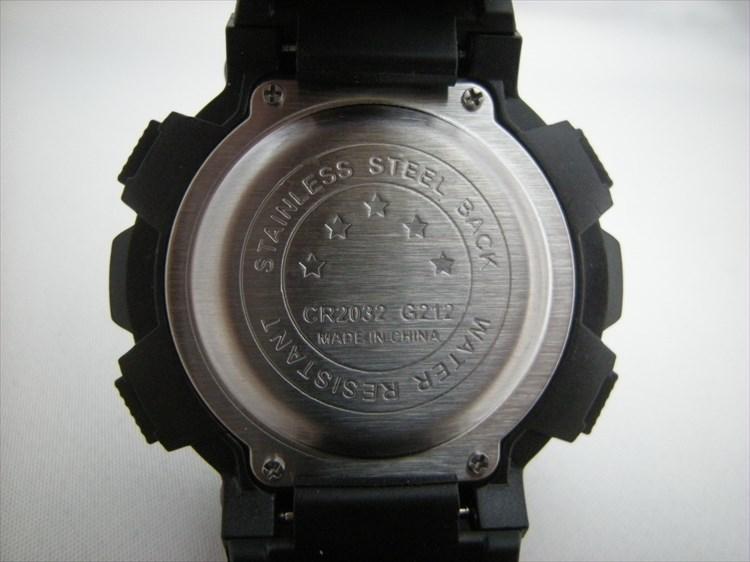ダイソーの300円時計 ブループラネットG 裏蓋