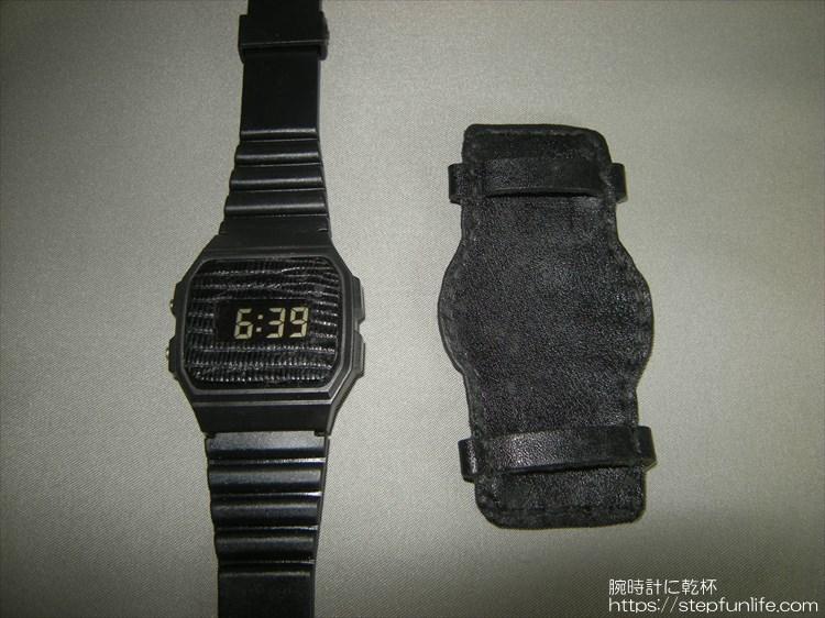 時計本体とアテ(自作完成)