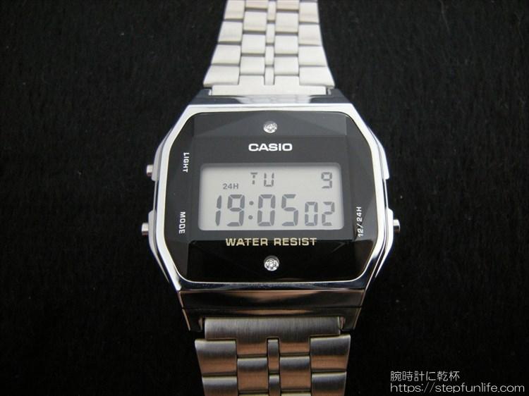 チプカシにダイヤ。カシオ CASIO A159WAD-1JF 正面写真