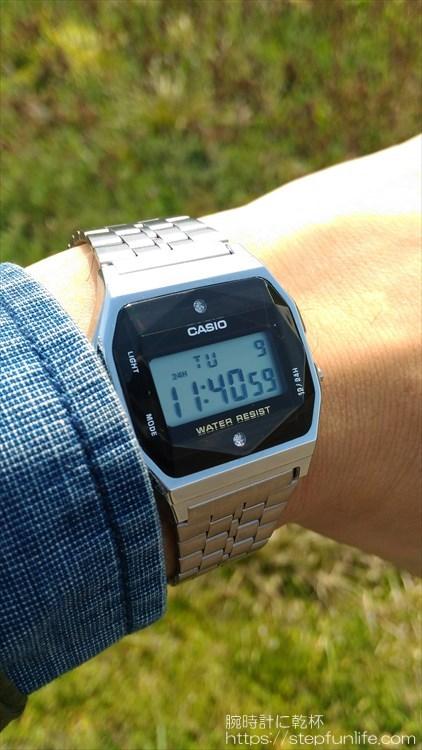 チプカシダイヤ。カシオ CASIO A159WAD-1JF 装着イメージ1