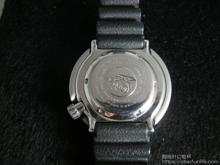 セイコーのダイバーズ時計(sbbn017) ツナ缶の裏蓋