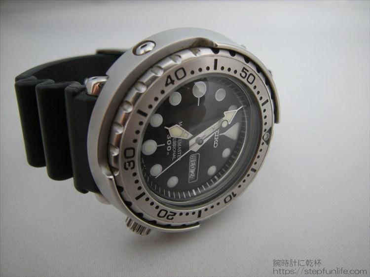セイコーのダイバーズ時計(sbbn017) ツナ缶 サイドから2