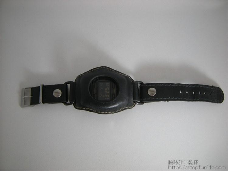 Gショック(G-SHOCK)レザーカスタム(黒) DW-5600 全体