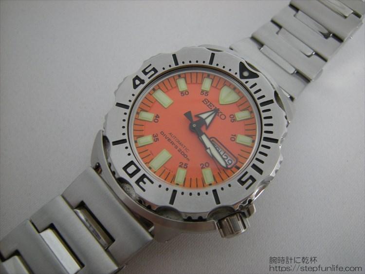 SEIKO セイコー 7s26-0350 (オレンジモンスター) ステンレスベルト