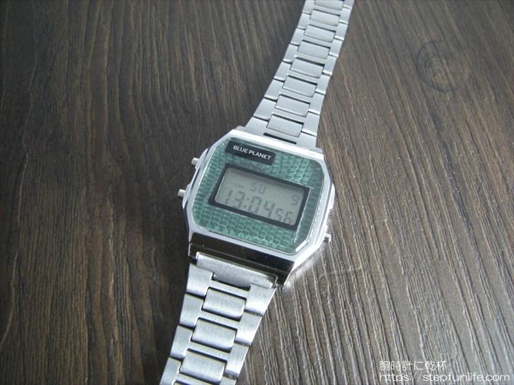 ダイソー300円腕時計(ブループラネット)カスタム ステンレスベルトタイプ完成
