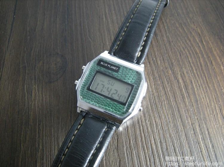 ダイソー300円腕時計(ブループラネット)カスタム後 フェイス写真