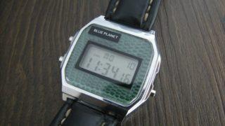 ダイソー300円腕時計(ブループラネット)カスタム後