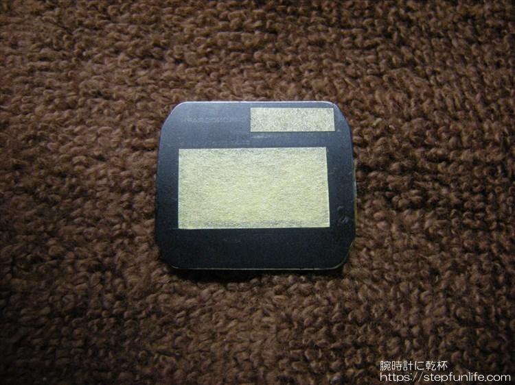 ダイソー300円腕時計(ブループラネット)カスタム 風防マスキング