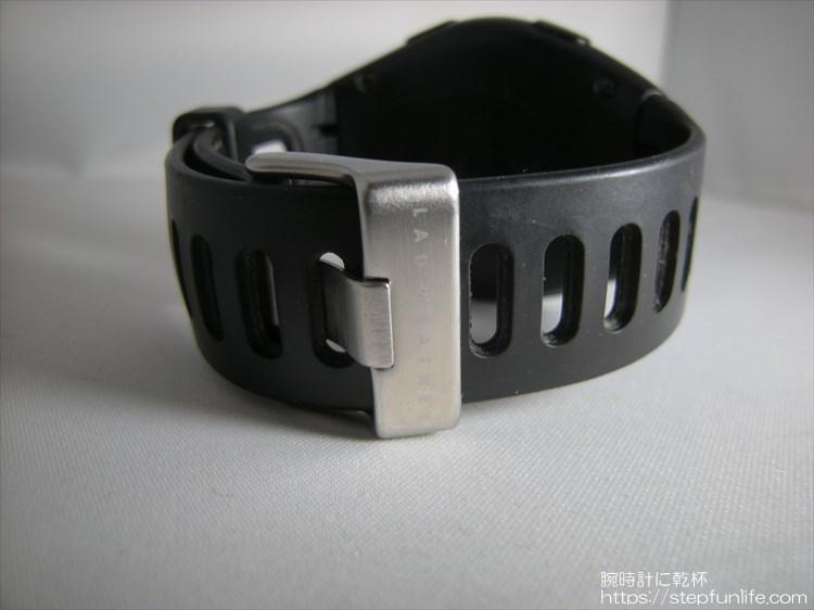 ラドウェザー ペドメーターマスター2 歩数計内臓腕時計 バックル部分