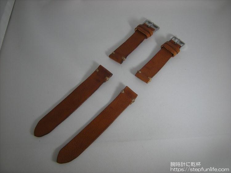 腕時計ベルト自作 制作手順 完成2本