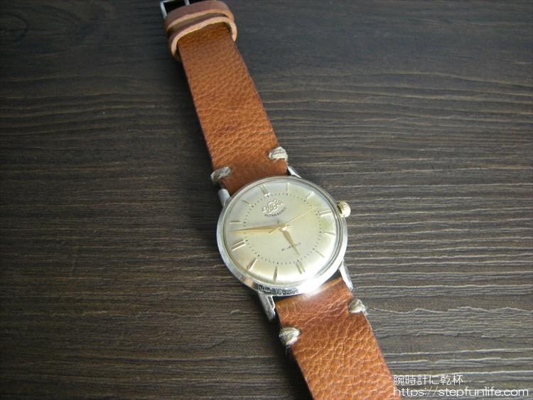 腕時計ベルト自作 エニカ ウルトラソニック(enicar ultra sonic)に装着