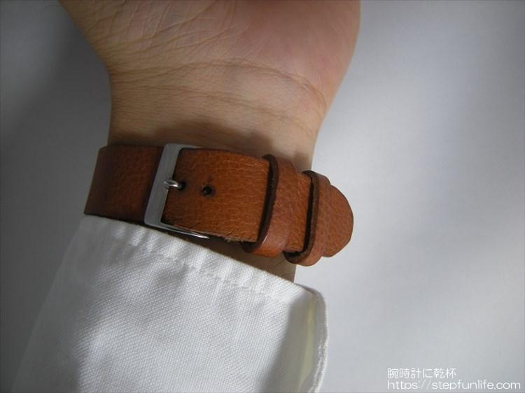 腕時計ベルト自作 制作手順 子穴あけ