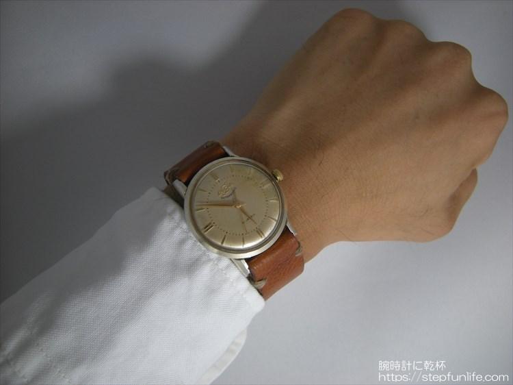 腕時計ベルト自作 エニカ ウルトラソニック(enicar ultra sonic)に装着イメージ2