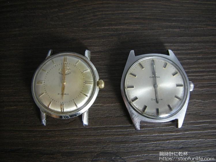 左はエニカ ウルトラソニック(enicar ultra sonic) 右はオメガ ジュネーブ(omega geneve)