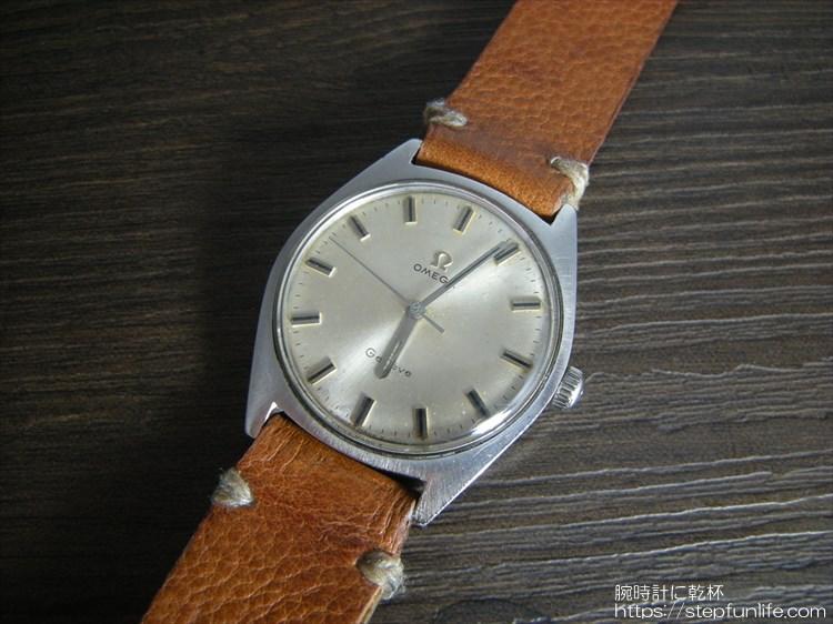 腕時計ベルト自作 オメガ ジュネーブ(omega geneve)に装着
