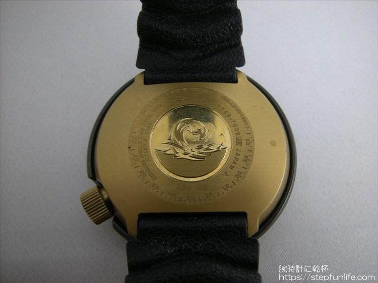seiko 7c46-7009 ツナ缶 黒×ゴールド ワンピース構造