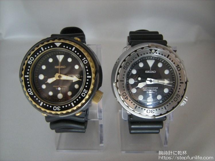seiko 7c46-7009 ツナ缶とSBBN017 ツナ缶 フェイス比較