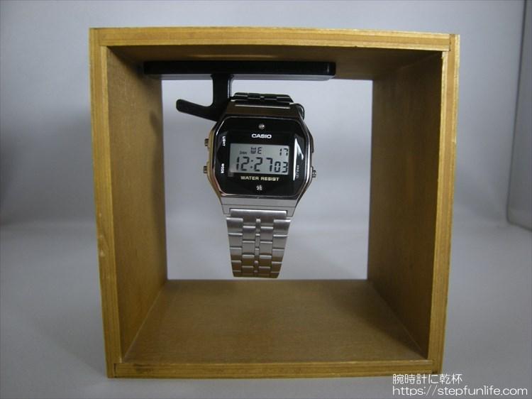 腕時計ディスプレイ (watch display)  木箱タイプ 完成3