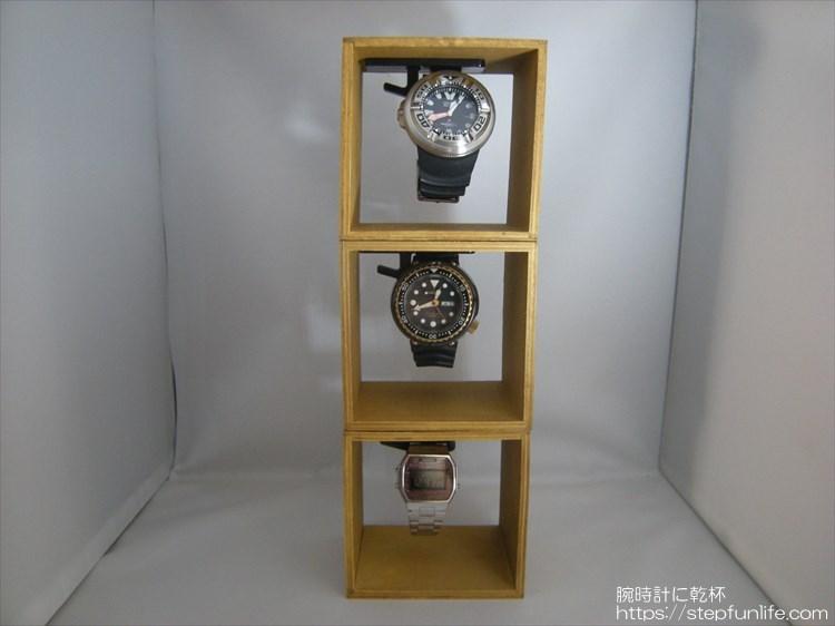 腕時計ディスプレイ (watch display)  木箱タイプ