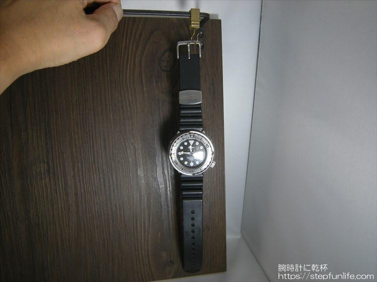 腕時計ディスプレイ (watch display) バーの位置合わせ