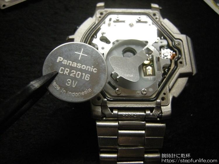 casio pro trek prt-500 電池交換3