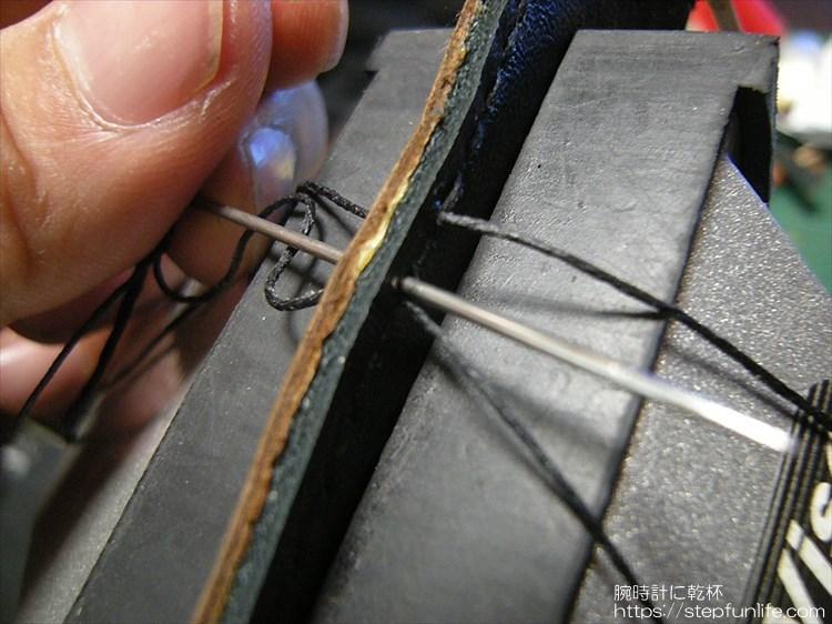 レザーベルト自作 縫い