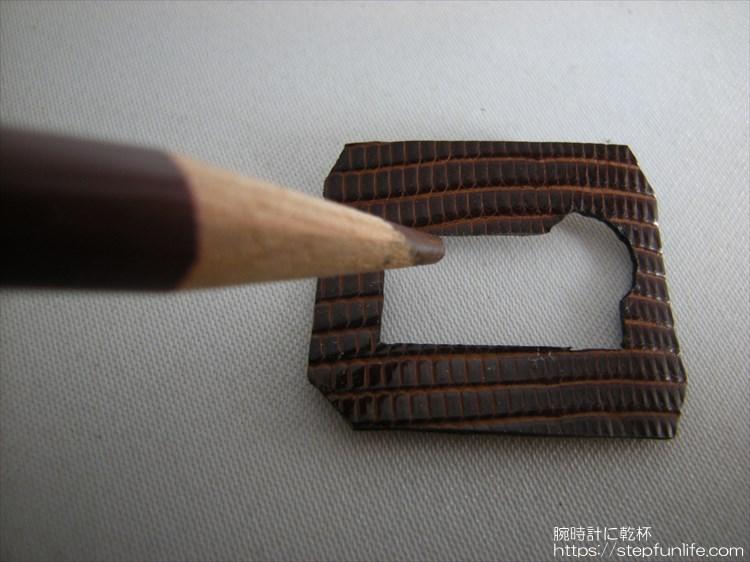 チプカシ レザーカスタム レザーステッカー 色鉛筆 茶