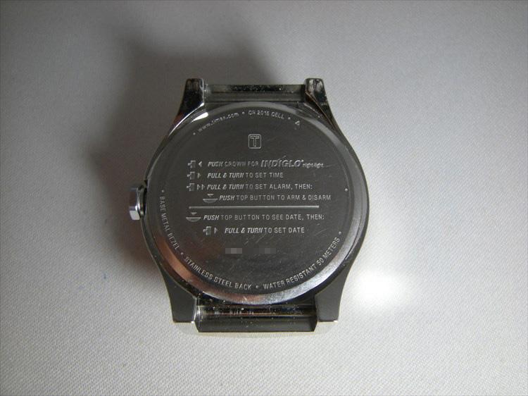 timex(タイメックス)デジタル 裏蓋