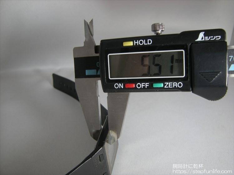 カシオ ペラ フィルムウォッチ FS-00 ノギスで計測