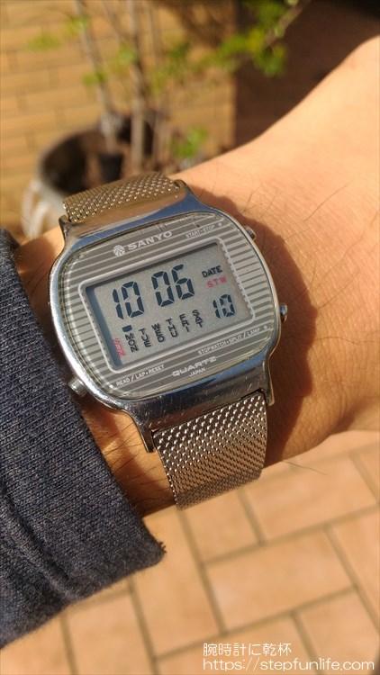 サンヨー デジタル時計 装着イメージ5