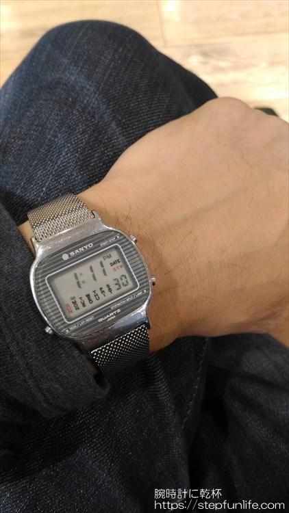 サンヨー デジタル時計 装着イメージ3