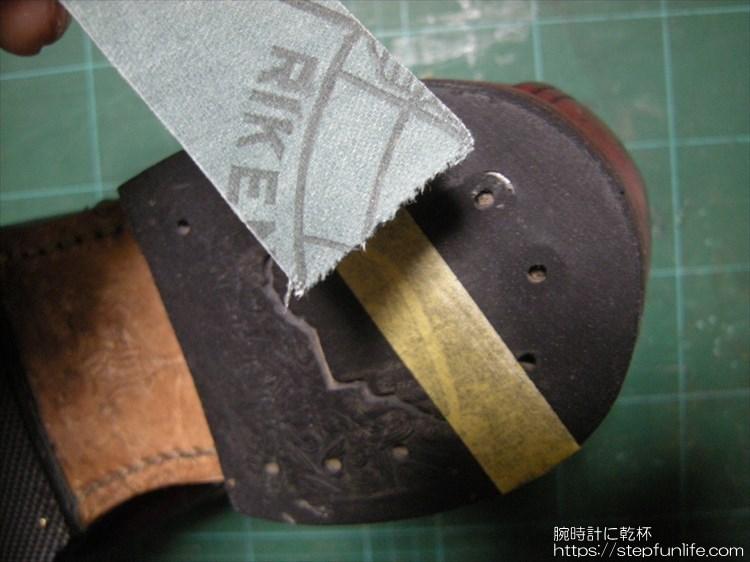 レッドウィング ベックマン 9011 かかと修理1
