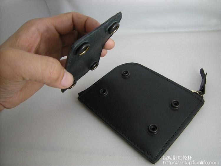 自作L字ファスナー財布 ダブル  カードケース型アタッチメント 取り付け