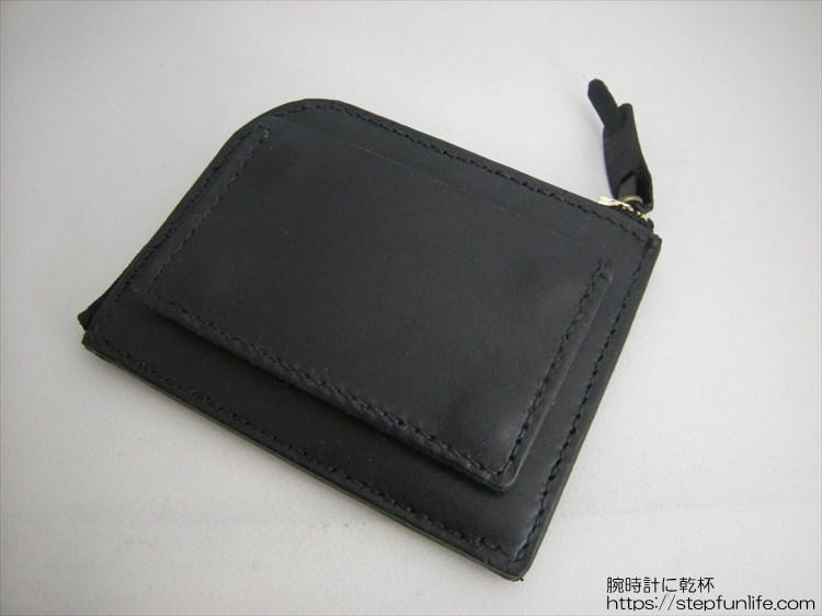 自作L字ファスナー財布 ダブル  カードケース型アタッチメント 取り付け完成