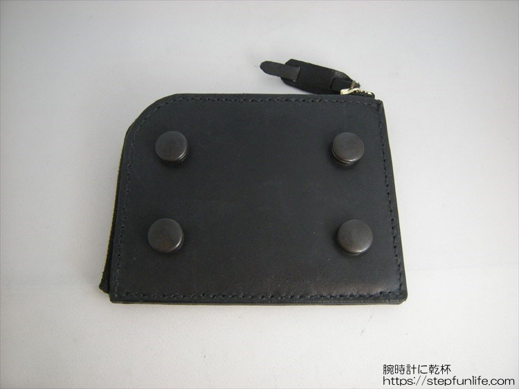 自作L字ファスナー財布 ダブル  ジャンパーホック型アタッチメント取り付け完了