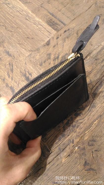 自作L字ファスナー財布 ダブル  カードケース型アタッチメント ポケット部分