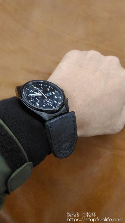 腕時計に鏡を取り付ける 装着イメージ2