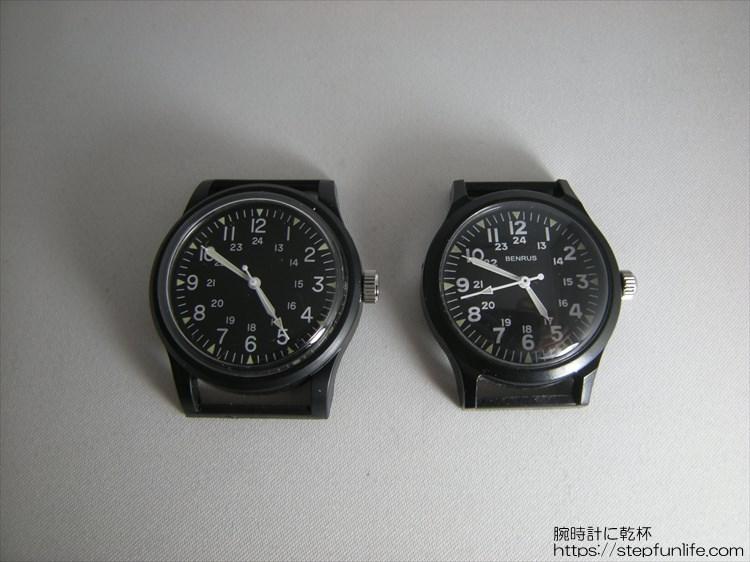 ダイソー ミリウォッチ (miliwatch) とベンラス763シリーズ ブラックとブラック