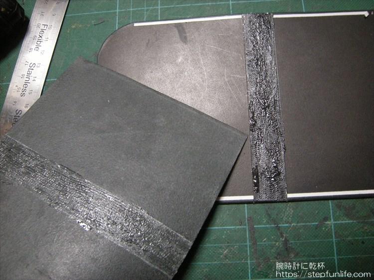 Lファスナー財布(鍵収納付き)を自作 外側ポケットの作成