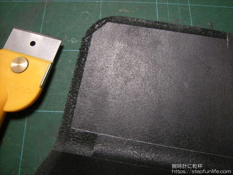 Lファスナー財布(鍵収納付き)を自作 ファスナーの取り付け