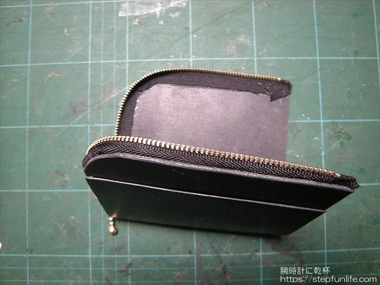 Lファスナー財布(鍵収納付き)を自作 ファスナーの取り付け2