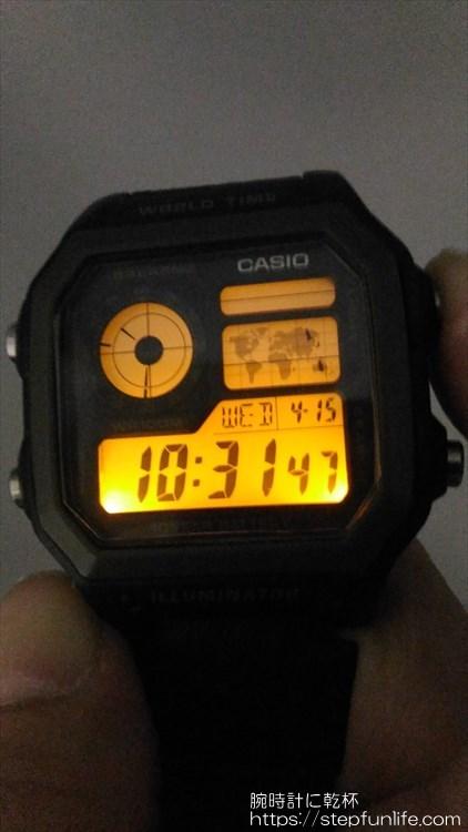チープカシオ(チプカシ) カシオ AE-1200WH LEDバックライト