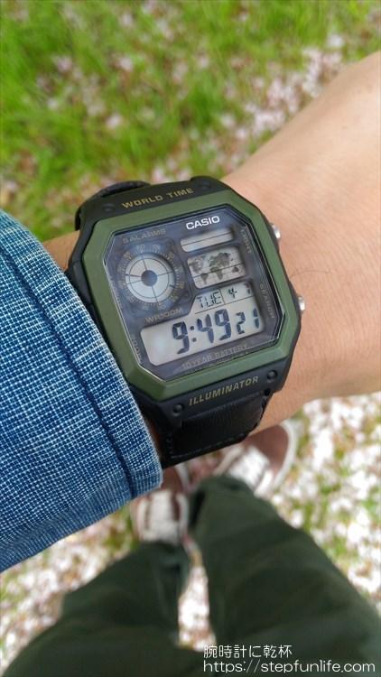 チープカシオ(チプカシ) カシオ AE-1200WH 着用イメージ