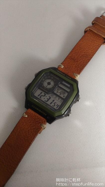 チープカシオ(チプカシ) カシオ AE-1200WH 自作ベルト