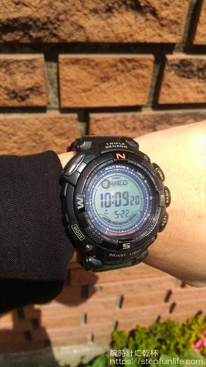 カシオ プロトレック PRW-1500GBJ 着用イメージ2