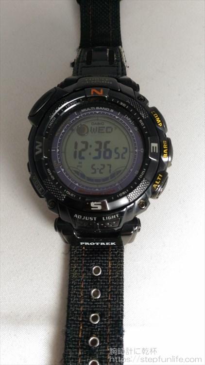 カシオ プロトレック PRW-1500GBJ フェイス