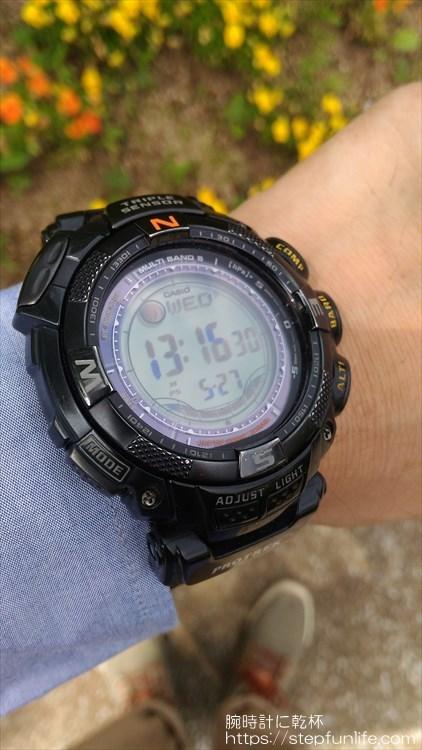カシオ プロトレック PRW-1500GBJ 着用イメージ3