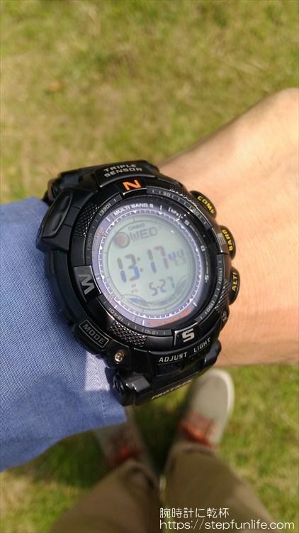 カシオ プロトレック PRW-1500GBJ 着用イメージ