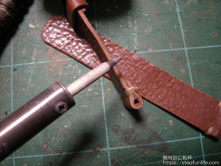 腕時計のベルトを自作する。コバ コテ