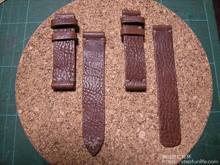 腕時計のベルトを自作する。ステッチまで完成